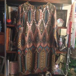 Tribal Print Mini Dress
